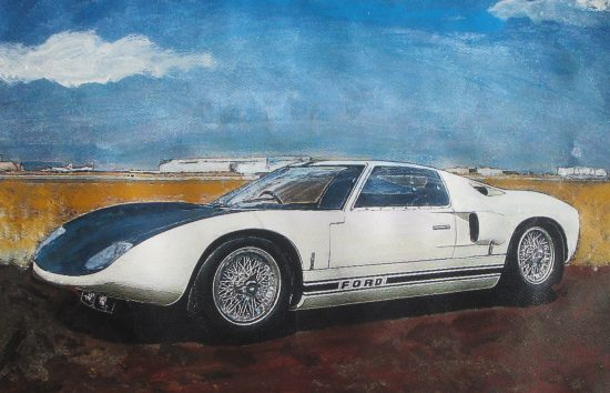 1964 Ford GT40 painting by Wallace Wyss