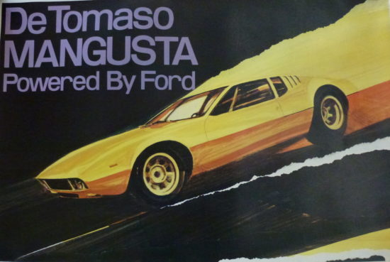 De Tomaso Mangusta and Ford Poster
